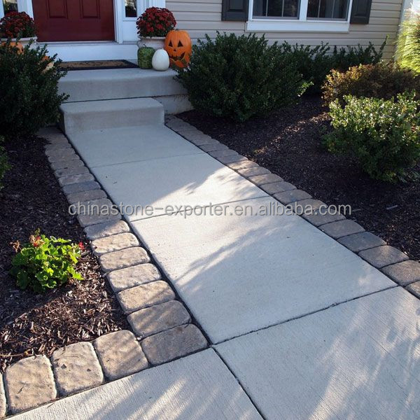 Decoratieve outdoor tuin stepping tegels bestrating road straatsteen