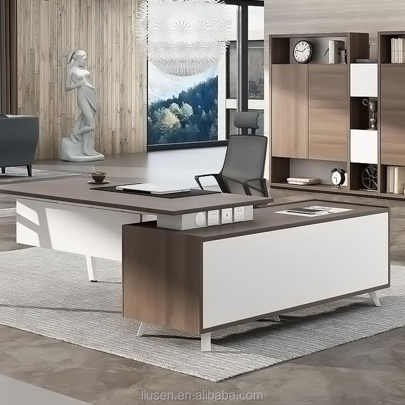 italian office desk. Super Quality Factory Direct Manager Furniture MFC Top L-shape Italian Office Desk