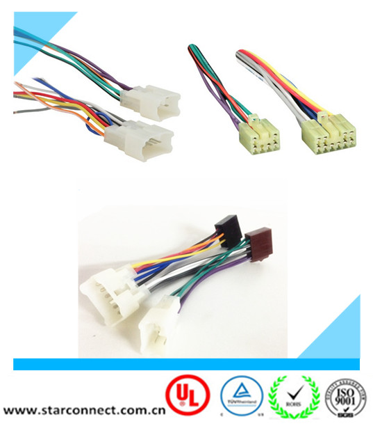 OEM iso radio automotive wire harness suitable for toyota