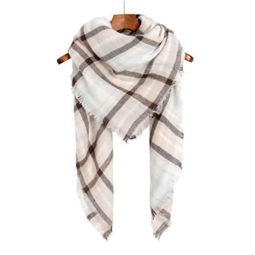 2018 Winter thick blanket stole scarves tartan plaid cashemere acrylic shawls scarfs