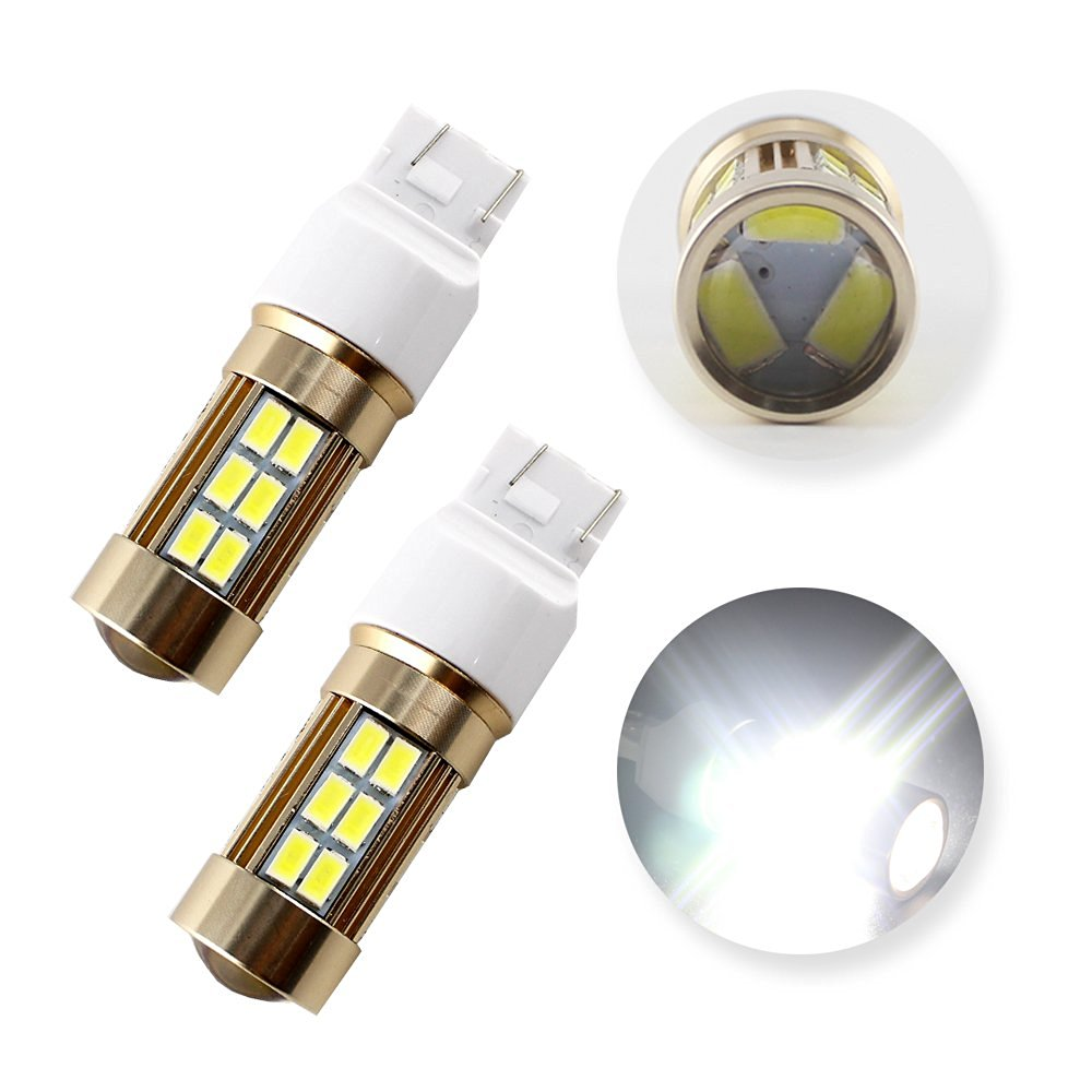 Grandview 2PCS Cold White T20 7443 5630 27SMD LED Driving Tail Backup Reverse Lights Bulbs