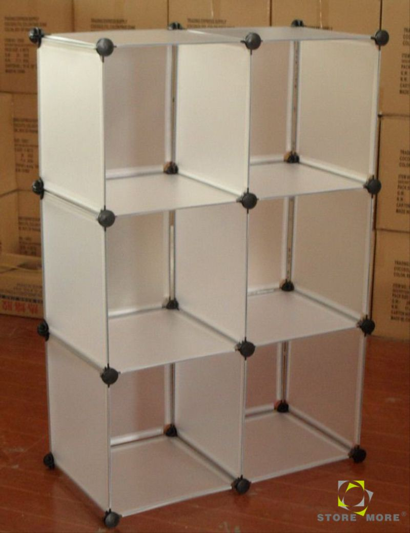 Clear Acrylic Cube Plastic Cubes Wardrobes Storage, White