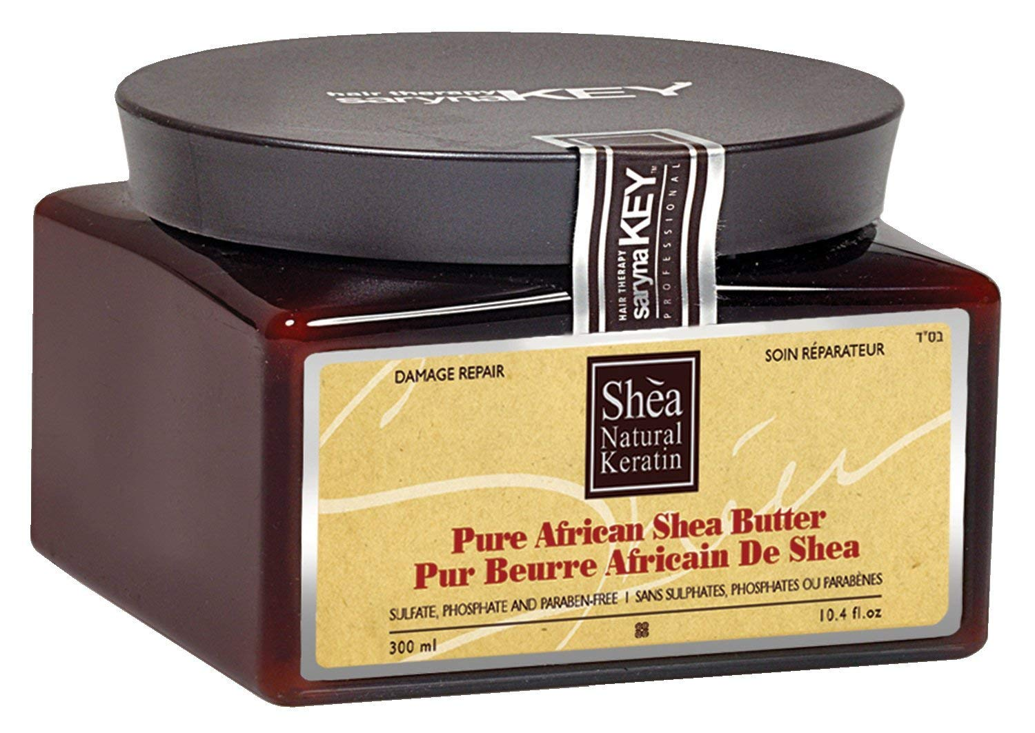 Saryna Key Damage Repair Shea Butter, Pure African Shea Butter for Natural Skin and Hair Moisturizer, Organic African Shea Butter - 300mL/ 10.14 FL.oz