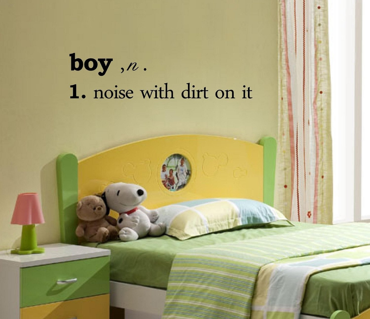 Buy Boy noise with dirt on it wall decal - Boy Wall Decal - Boys ...