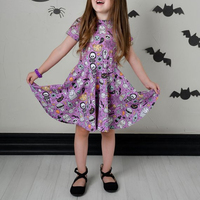 baby clothes supplier high quality baby girls cotton children clothes kids trendy clothing Baby Girls Halloween Dress