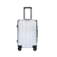 BUBM ABS Travel Business Luggage Aluminum Frame Pull Rod Box