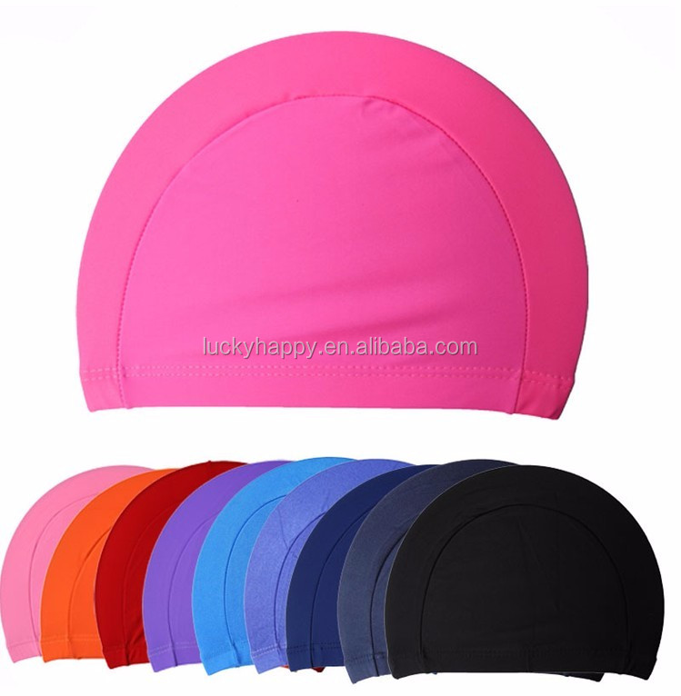 Lycra Swim Cap With PU Coat Can Fit Long Hair Cool Swimming Cap Adult Size
