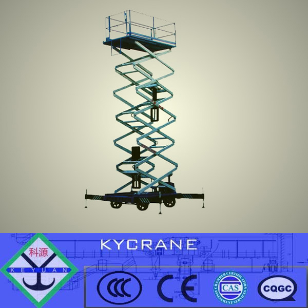 Best quality mobile hydraulic scissor lift table/lifter/elevator