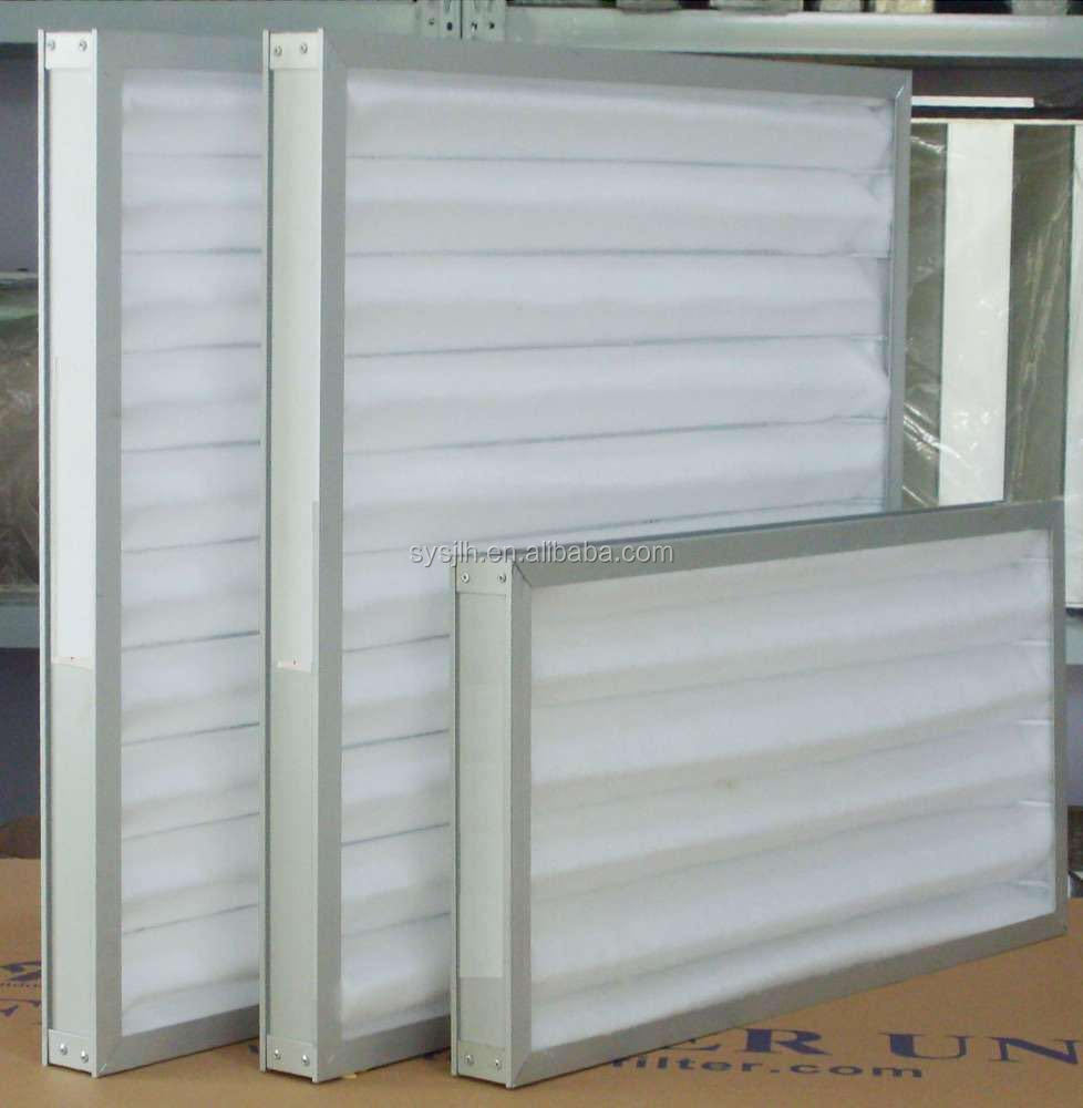 Non-woven mini pleat F5-F9 air filter for Pharmaceuticals factory