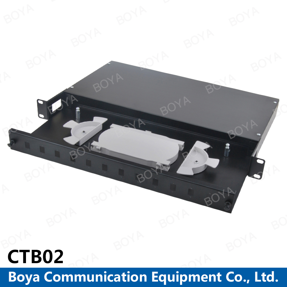 Boya High Quality Factory Directly Supply 19' Rock Mounted Sliding Type Optical Fiber Terminal Box