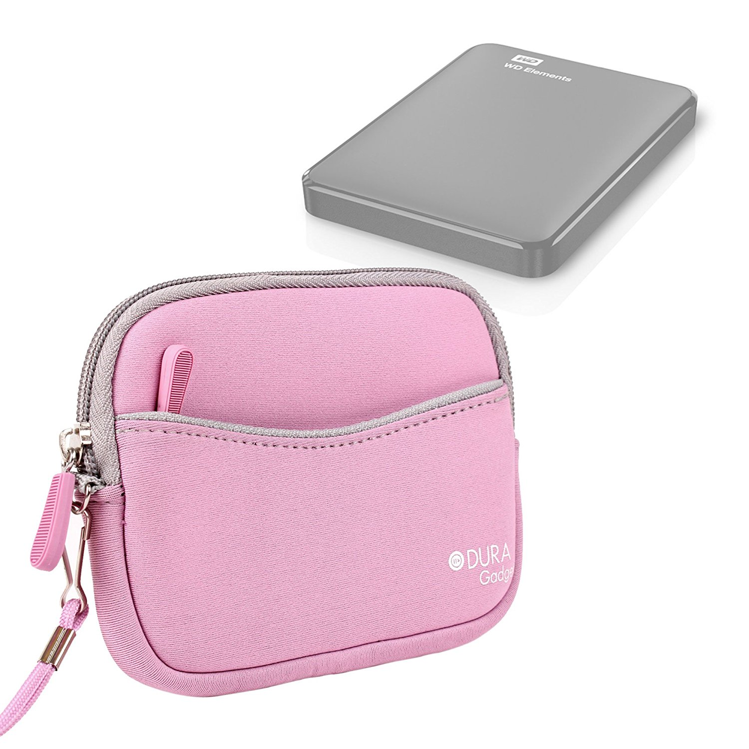 Cheap Western Digital External 2tb Find Wd My Passport Usb 30 Free Softcase Harddisk Get Quotations Duragadget Pink Water Resistant Neoprene Hard Drive Carry Case For