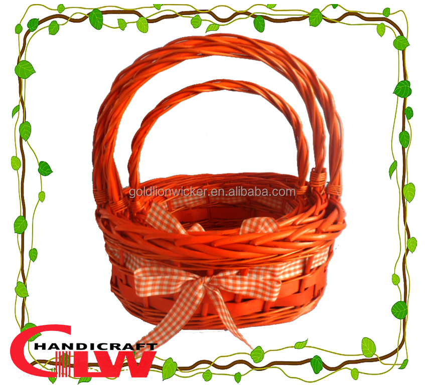 Set of 3 wicker fruit basket wholesale with ribboneaster gift set of 3 wicker fruit basket wholesale with ribboneaster gift basket wholesalecandy negle Image collections