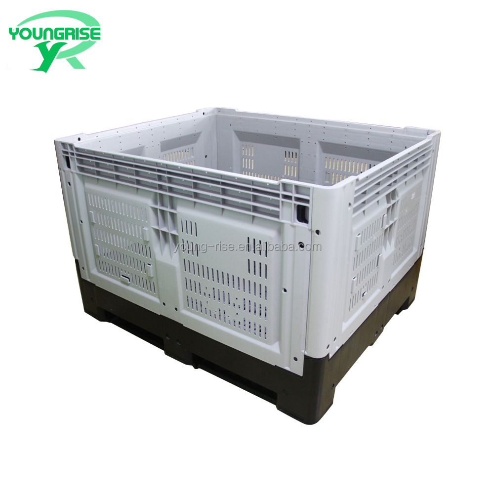 Wholesale Folding Plastic Fruit bin Collapsible Pallet Crate for Tool Packaging
