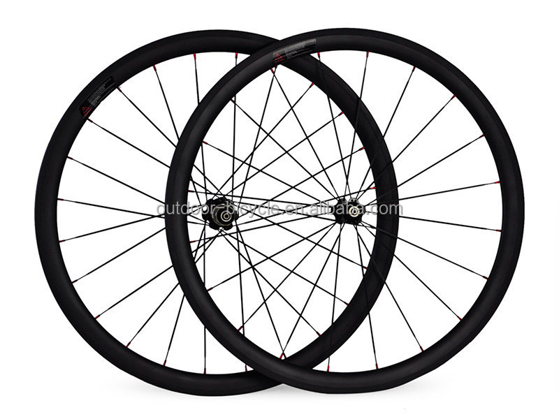 chinese hot selling full carbon 38mm road bike tubular/clincher wheels 700C 21mm/23mm/25mm width with novatec hubs