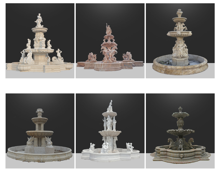 Chinese outdoor decorative stone castle water fountain