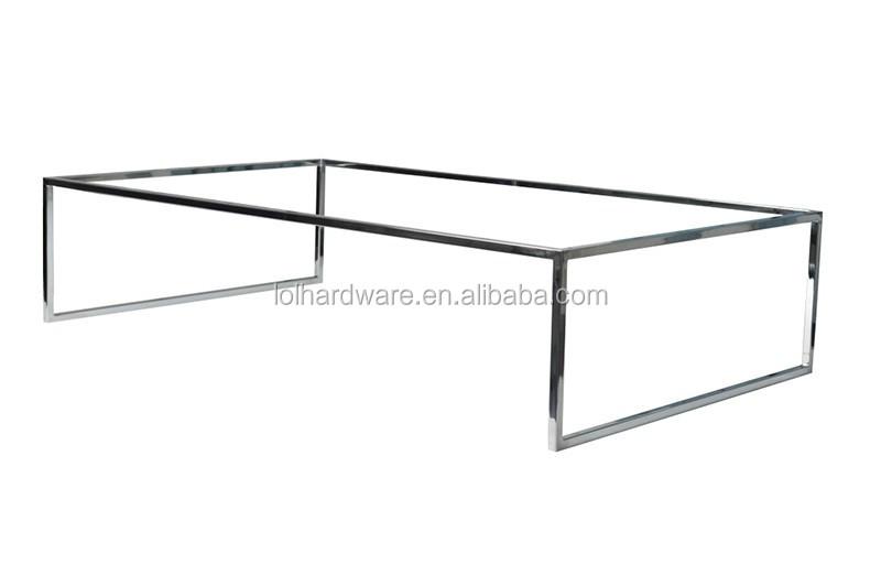 acier inoxydable tube carr pied de table de table en m tal cadre pour chambre fin table cadre. Black Bedroom Furniture Sets. Home Design Ideas
