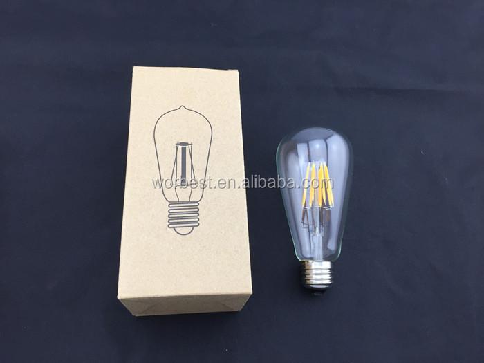 4w Vintage Led Filament Light Bulb,St64 Edison Style,120v,E26 ...