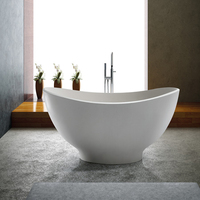 Freestanding Stone Resin Bathtubs Factory Wholesale Solid Surface Bathtubs