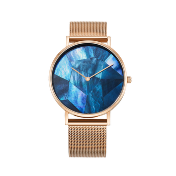 Oshi extra thin blue MOP dial best ladies luxury wrist watches