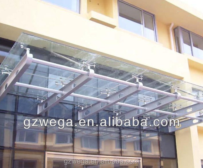 For building group !Aluminum profile double temperd glass Canopy