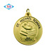 High quality customized gold plated soft enamel school award medal