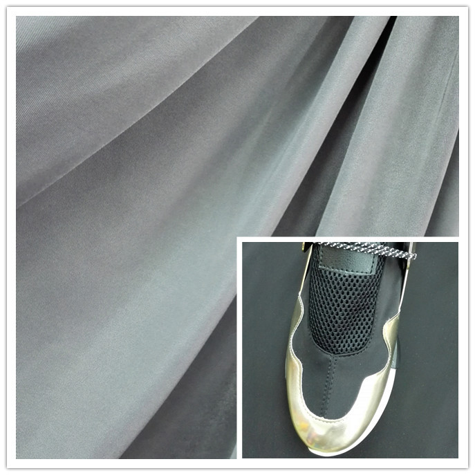 80 nylon 20 spandex 4 way stretch lycra fabric for shoes