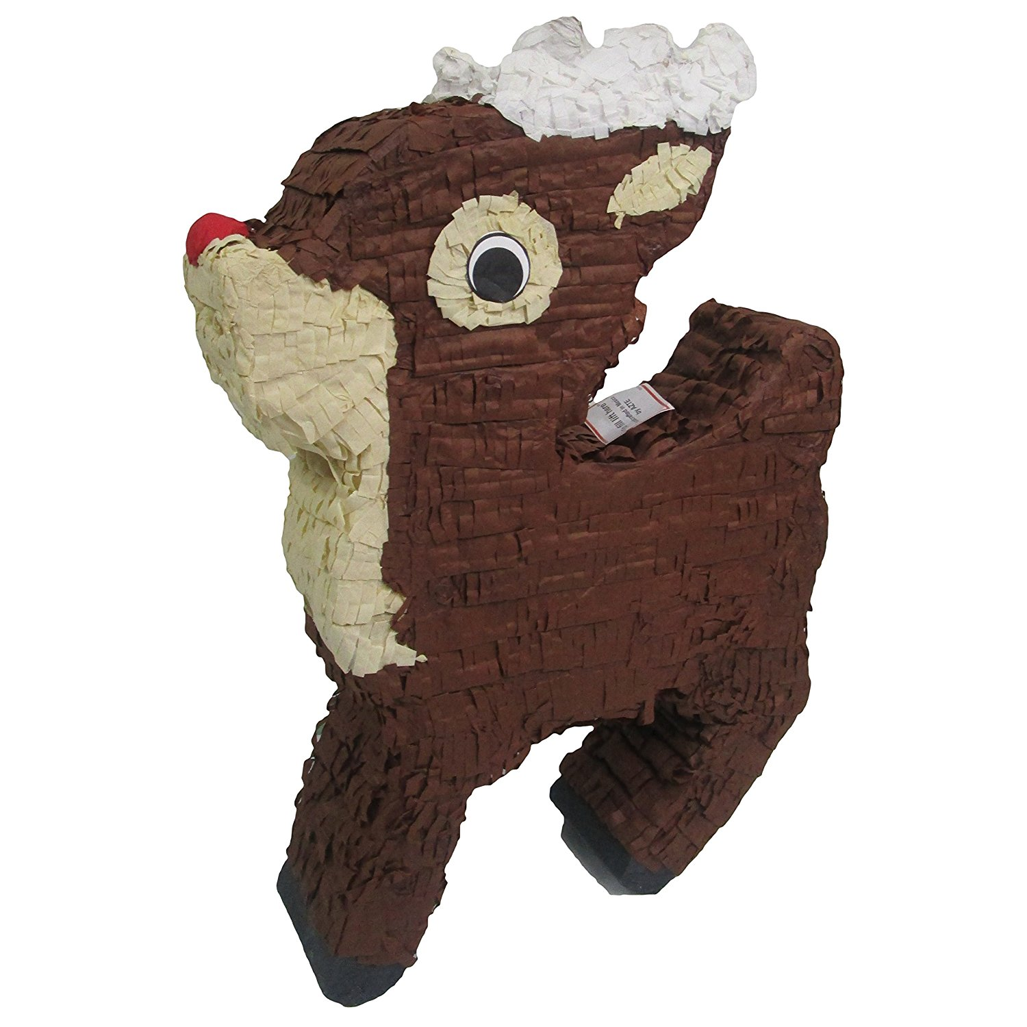 Rudolph Reindeer Pinata Christmas Decoration, Photo Prop and Party Game