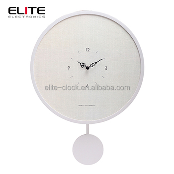 Customised Decorative Wooden White Pendulum Big Wall Clocks Modern