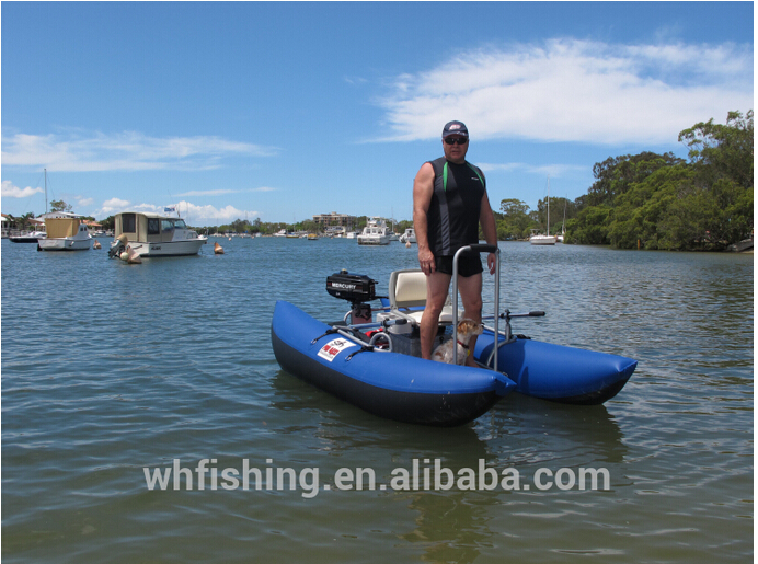 2015 blue frame inflatable fishing pontoon boat buy for Inflatable fishing pontoon