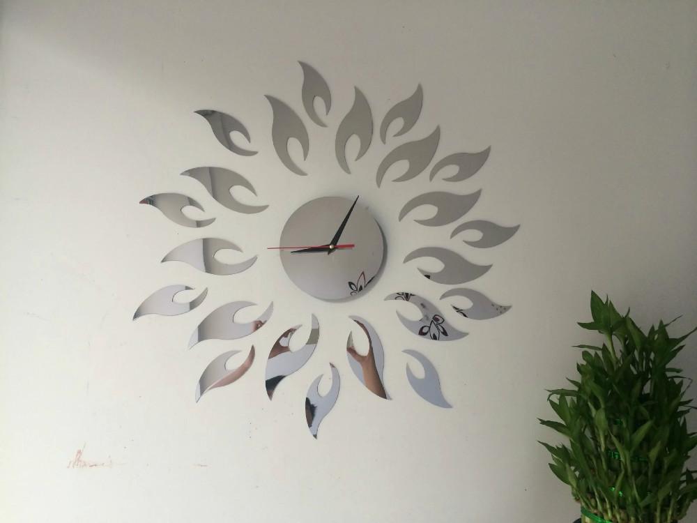 22PCS/Set 3D Best Sun Wall Art Clock Safe Home Decor Wall