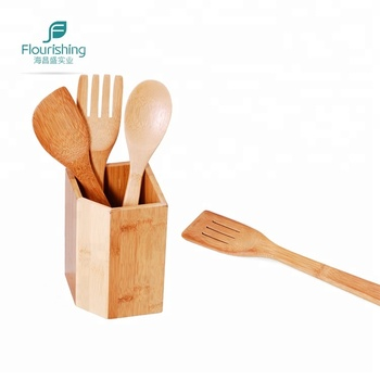 Natural Bamboo Utensils With Holder,Kitchen Wood Cooking Tool - Buy Bamboo  Kitchen Utensils,Bamboo Utensils Set,Wood Cooking Utensils Product on ...
