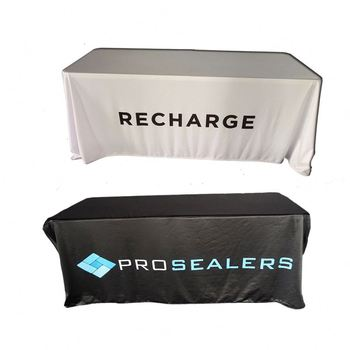 Custom Printed Waterproof Logo Made Table Cover Tablecloth Oil Proof Cloth
