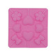 Cheap silicone bowknot heart candy lollipop mold