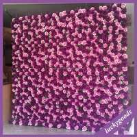 LFB458 high quality emulation wedding rose wall backdrop for sale
