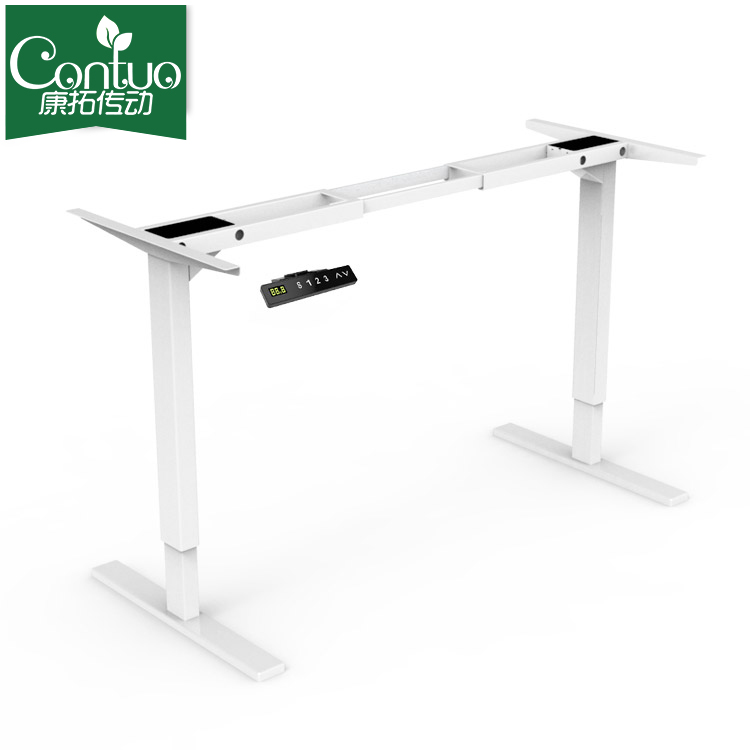 Dual Lifting Motorized Metal Frame Computer Sit Stand Desk - Buy ...