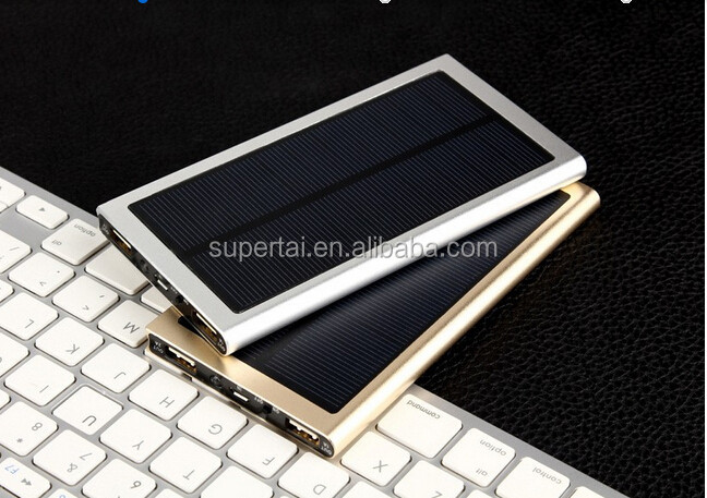 Manual for smart phone waterproof solar power bank 12000mAh
