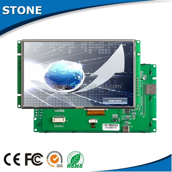 3.5 inch 320*240 TFT LCD smart module with fast speed CPU/Driver/Flash memory/Serial port