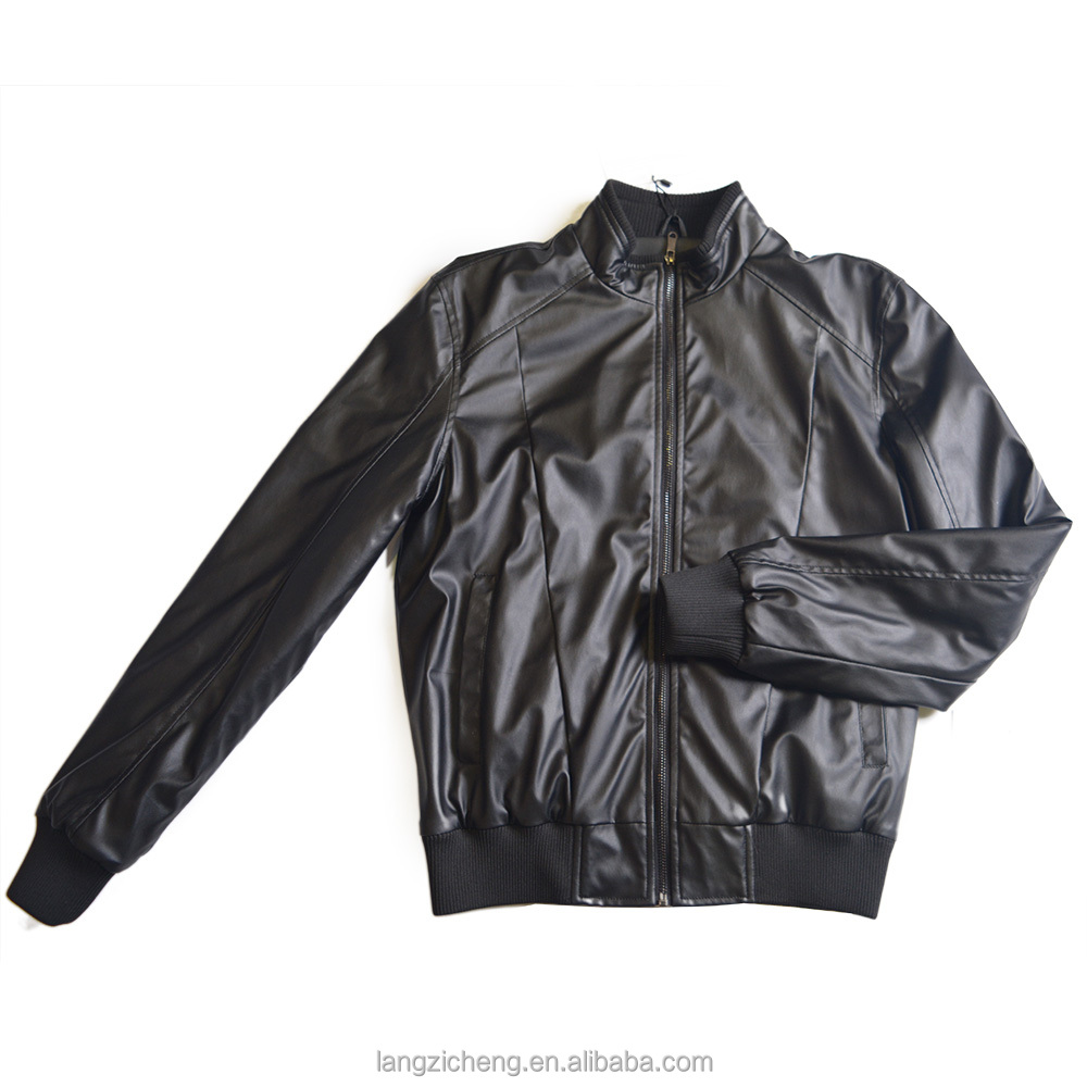 Fashion spring and autumn Black coats pu Leahter Bomber Jacket for men