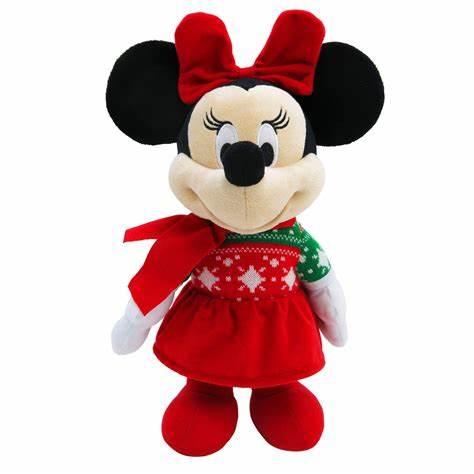 Christmas Minnie Mouse Plush.2017 Pretty Christmas Stuffed Xmas Toy Plush Mickey Minnie