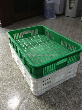 Mesh Style and No Foldable plastic crate for freezer 600*415*180 mm