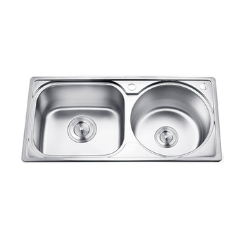 Foshan Factory Custom Made Double Drainer Double Bowl Rectangue ...