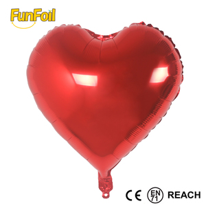 36 inches solid colors heart shape inflatable balloon remax for foil material