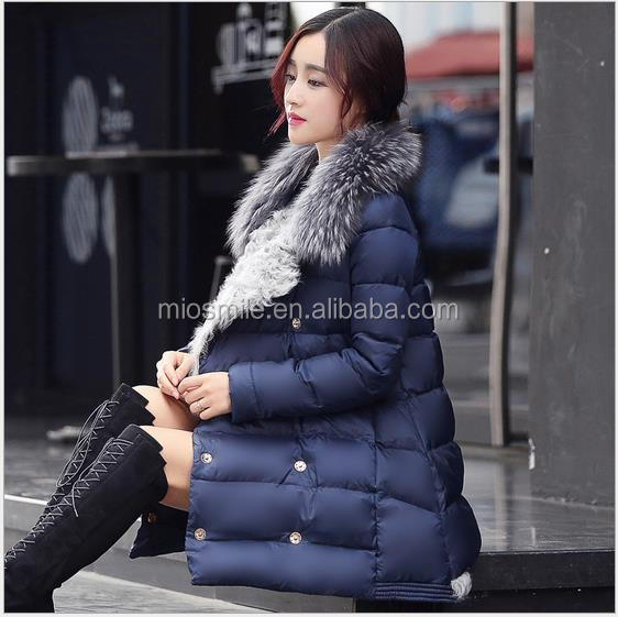 S31190A Wholesale Fashion Women's Thicken Winter Warm Long Parka Down Feather Jacket Coat