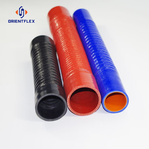 Online shop silicone corrugated rubber hose, braid silicone hose from China supplier