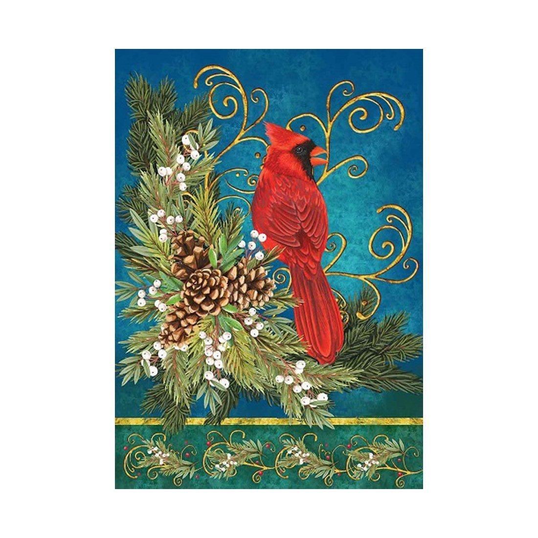 Buy Custom Decor Flag Winter Cardinal Garden flags decorative flags