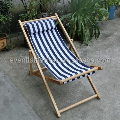 Hot Sale Folding Wooden Beach Chair For Outdoor Furniture