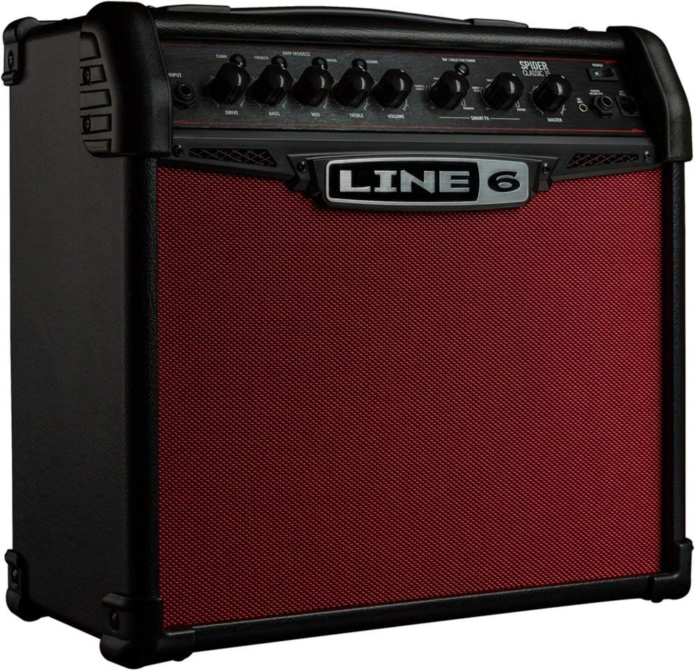 Line 6 Spider Classic 15 15W 1x8 Guitar Combo Amp Red Edition Black and Red