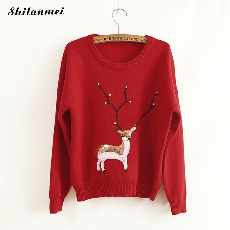 Compra Renos de navidad suéter online al por mayor de
