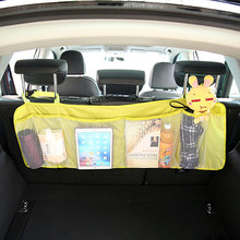 Сумка-Органайзер на заднее сиденье для багажника, сетка для внедорожника, сетка для хранения, складные карманы для мусора, Автомобильные су...(Китай)