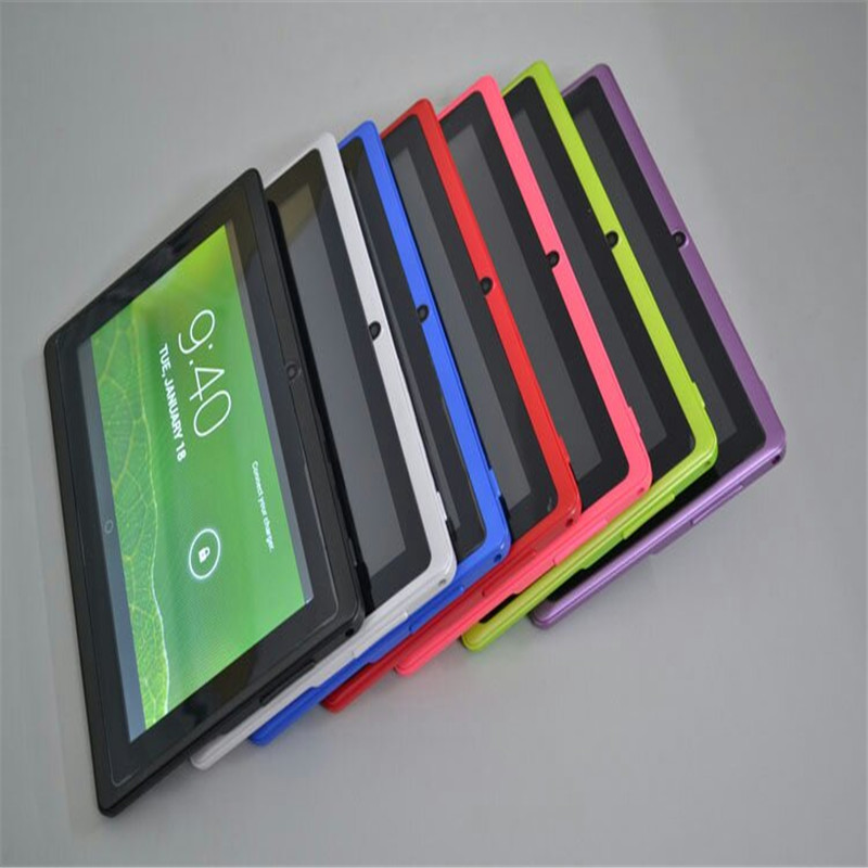 6 Colors tablet pc 7 inch capacitive screen android tablet dual camera 4GB WIFI